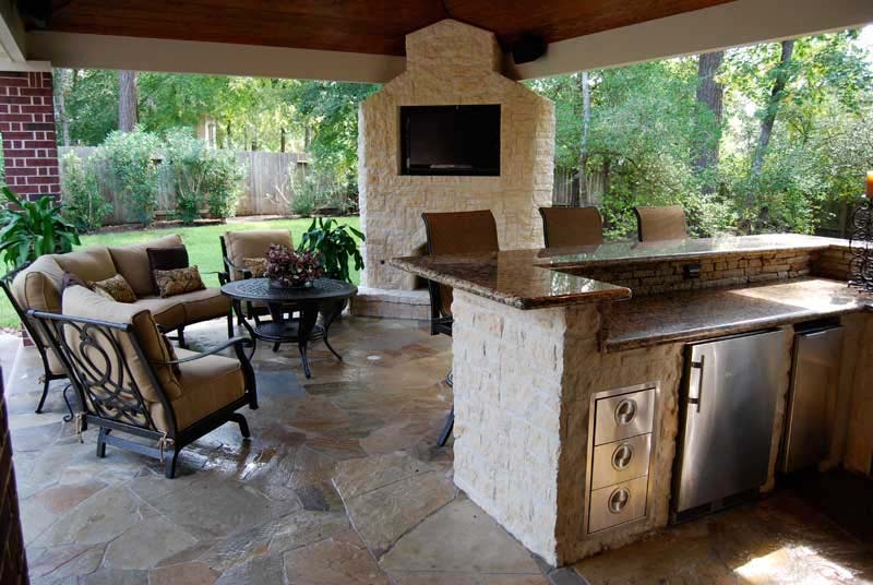 Outdoor Kitchen Pictures outdoor kitchen builder casper wy - decks unlimited llc